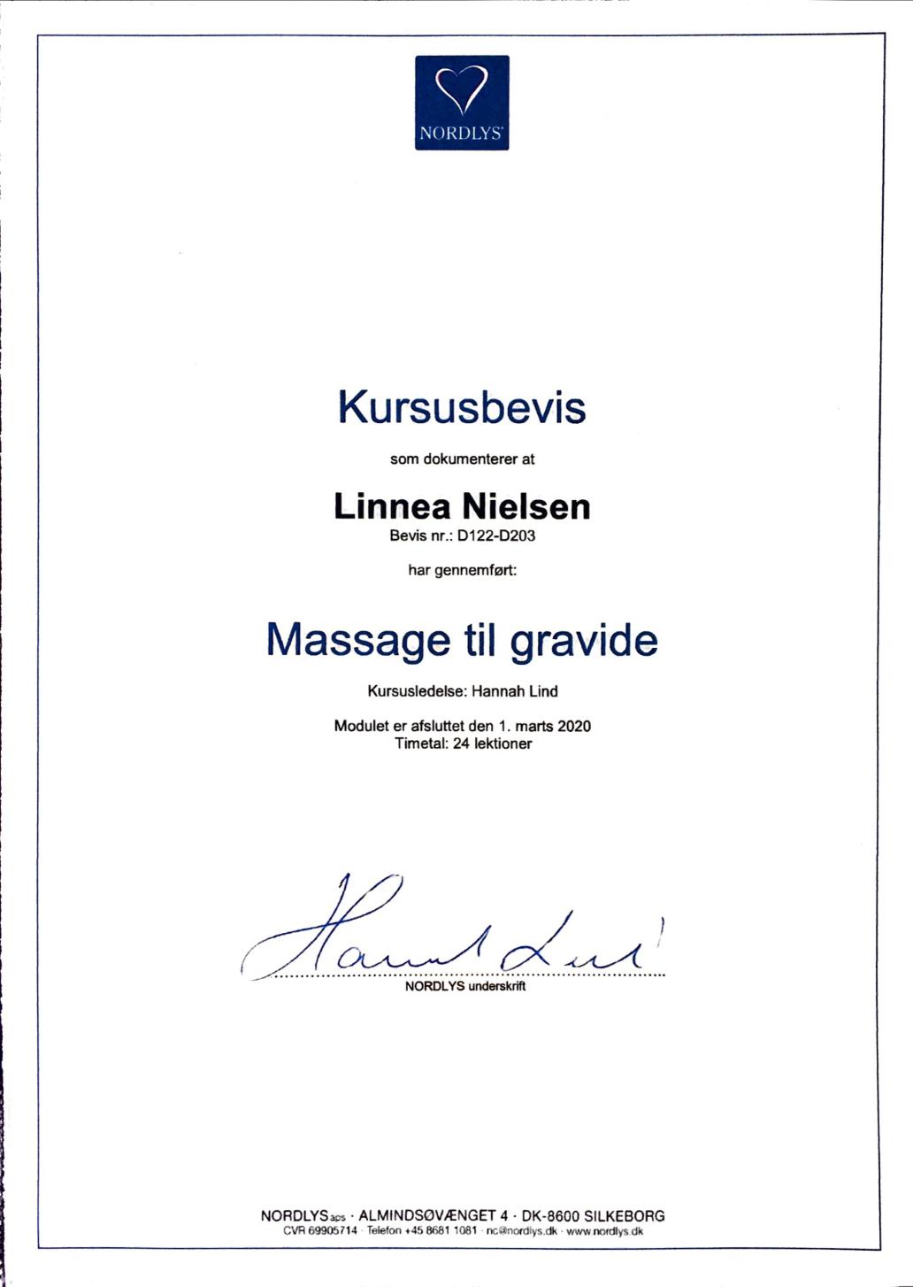 Gravidmassage certifikat