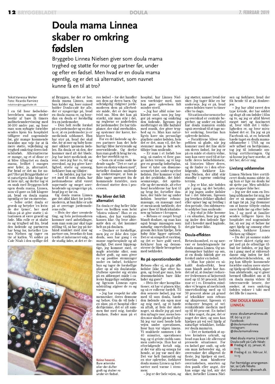 Udtalelser Fødsel i balance avisartikel